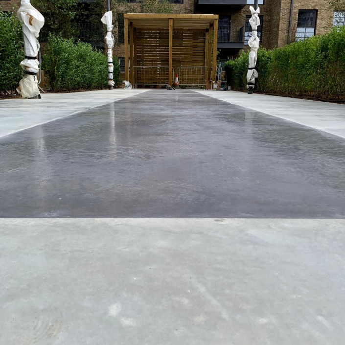 HTC Bronze polished paste concrete