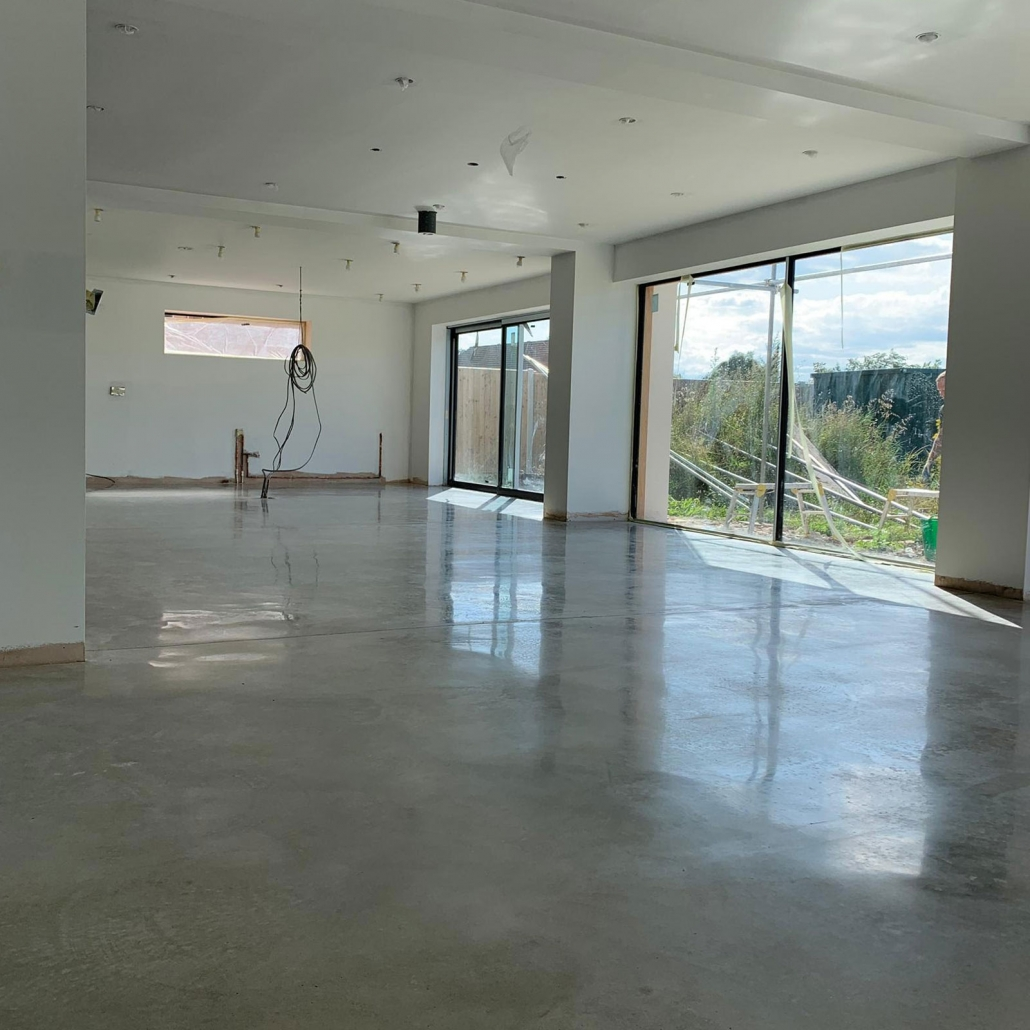 CASE STUDY - Polished Concrete Floor for New Build in Norwich
