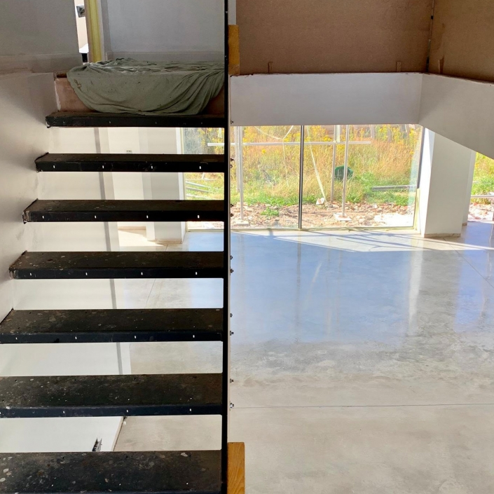 Polished Concrete Floor for New Build in Norwich