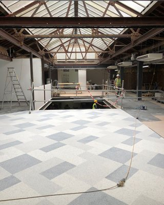 terrazzo tiled floor in Victoria