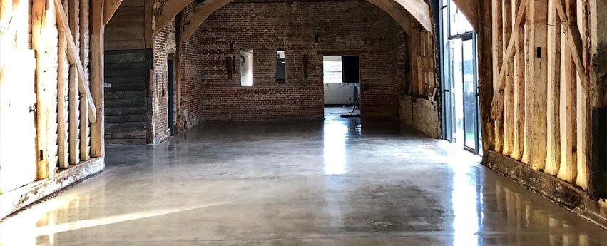 Polished Concrete floors for Suffolk barn conversion
