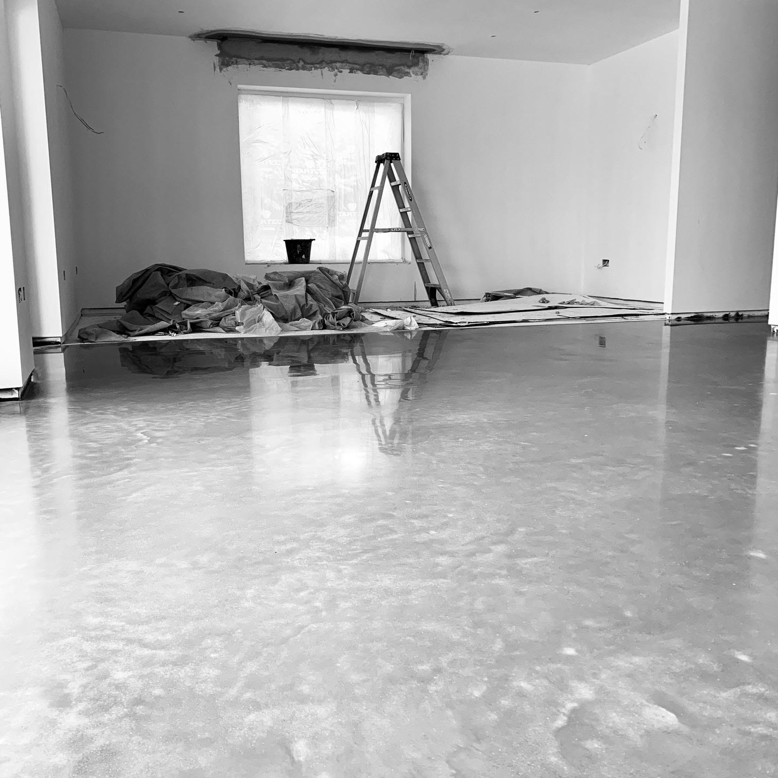 Polished Concrete Floor for New Build in Bath
