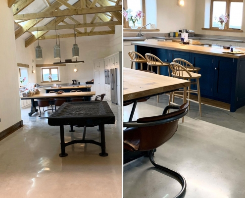 Polished-Concrete Floor for Buckinghamshire Barn Conversion