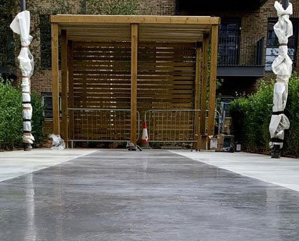 External Polished Concrete in Wembley